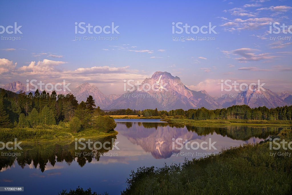 Grand Teton Morning stock photo