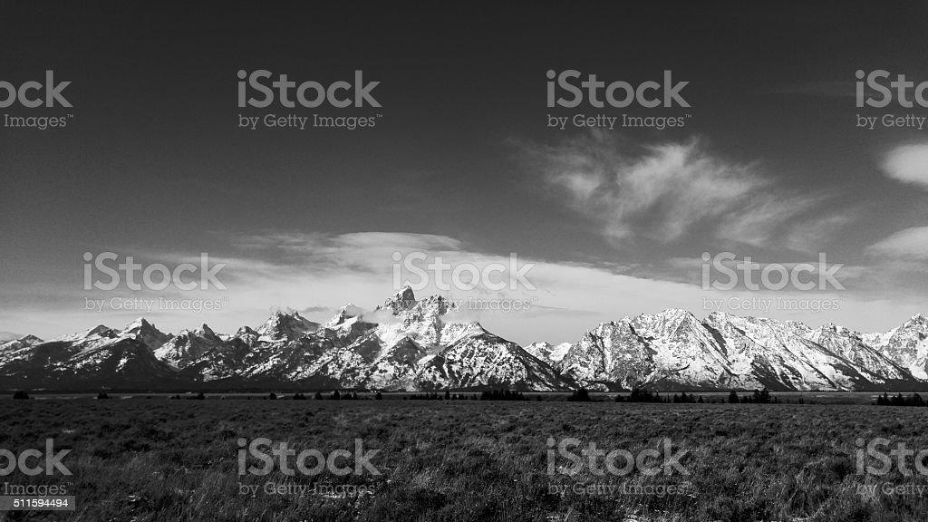 Grand Teton Mountain range - Jackson, Wyoming stock photo