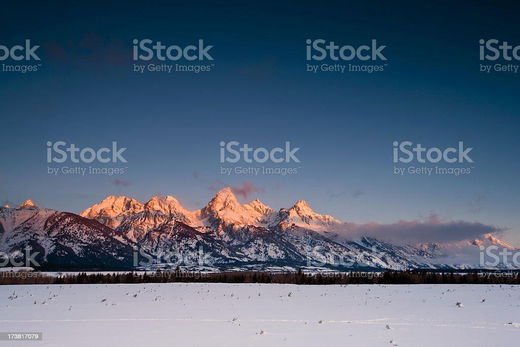 Grand Teton Mountain Range stock photo