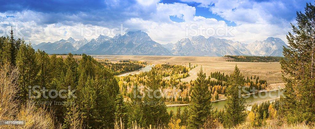 Grand Teton Mountain range royalty-free stock photo