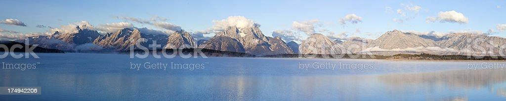 Grand Teton Mountains Panorama stock photo