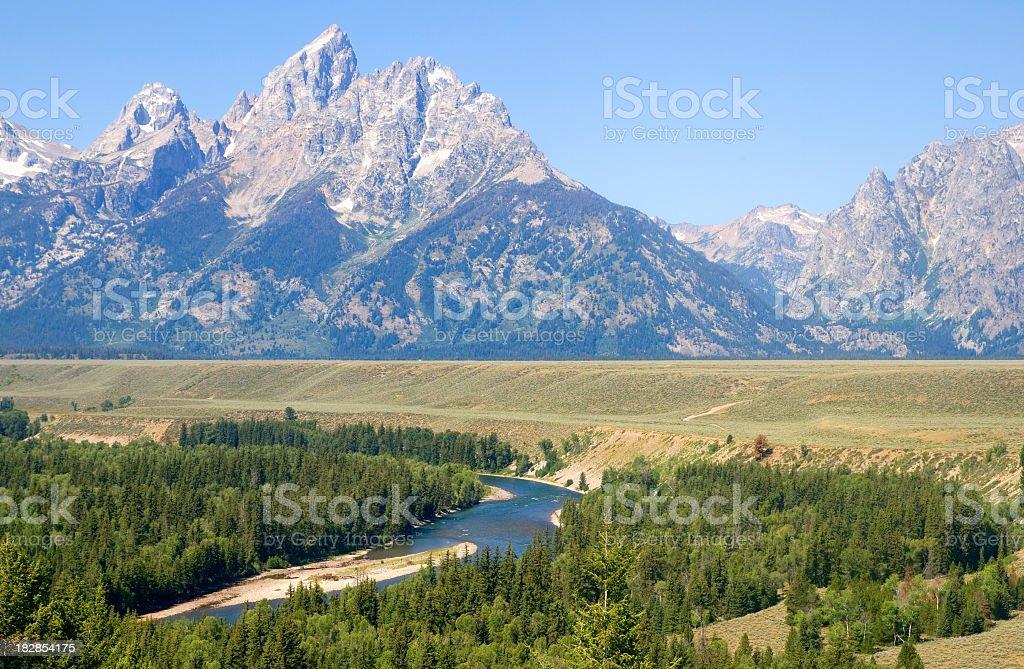 Grand Teton mountains royalty-free stock photo