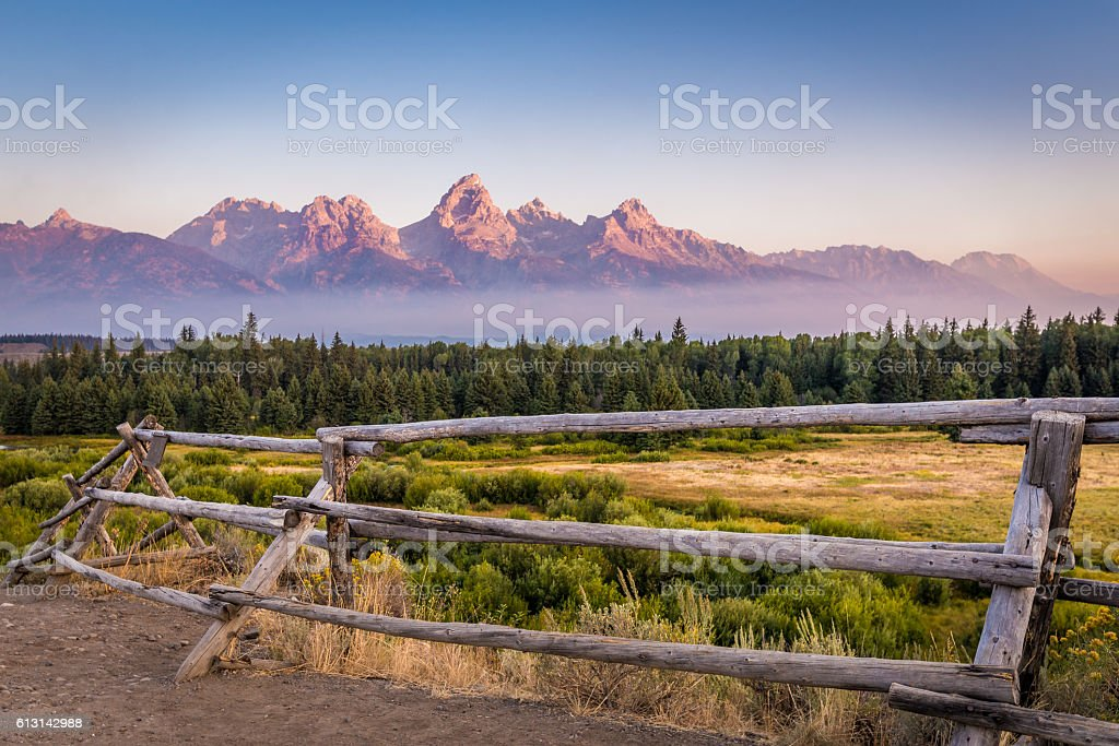 Grand Teton Mountains stock photo