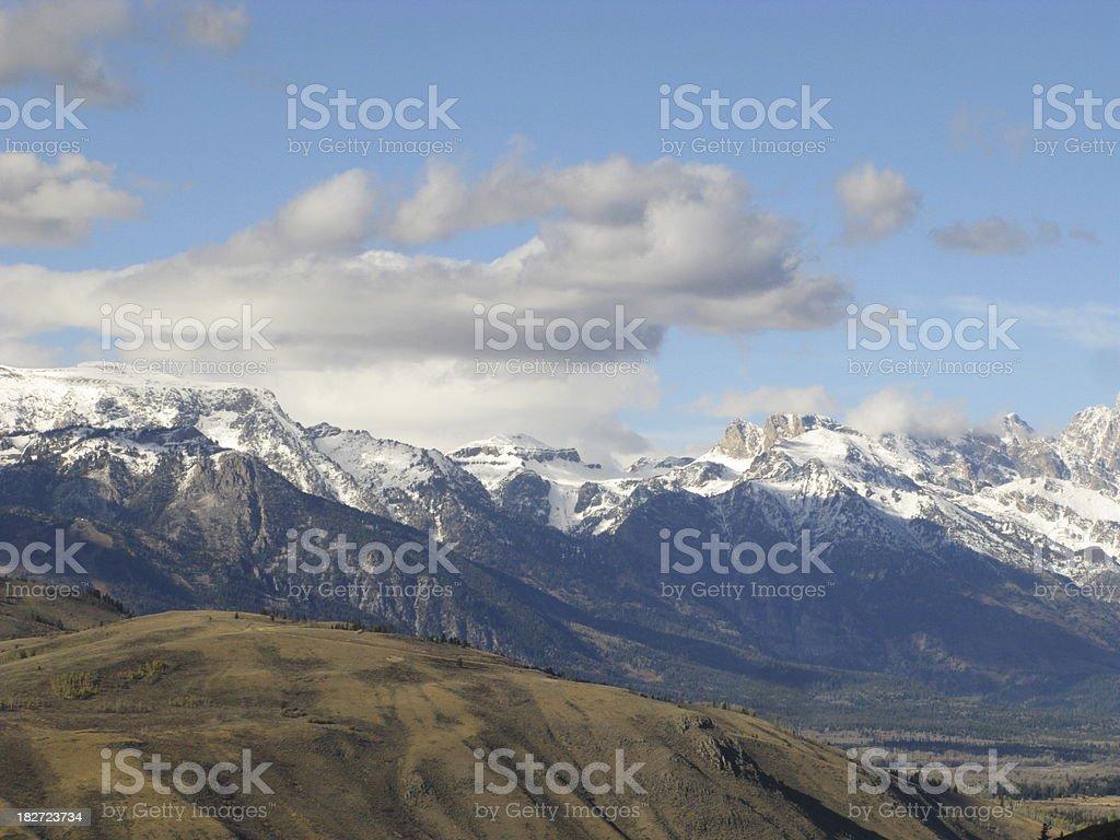 Grand Teton Mountains Wyoming stock photo