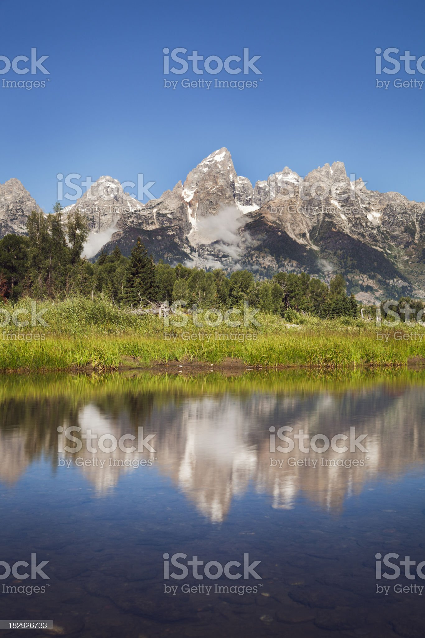 Grand Teton National Park and the Snake River royalty-free stock photo