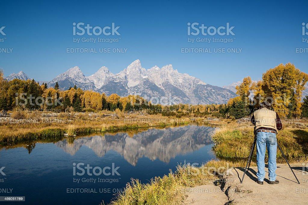 Grand Teton National Park autumn stock photo