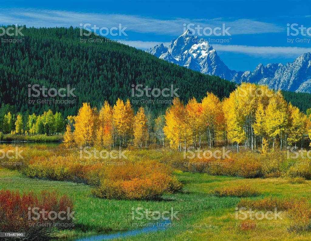 Grand Teton National Park in autumn royalty-free stock photo
