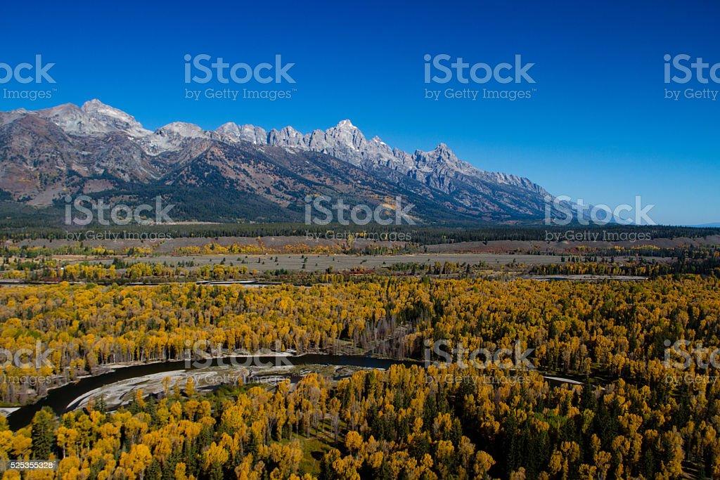 Grand Teton National Park in Fall stock photo