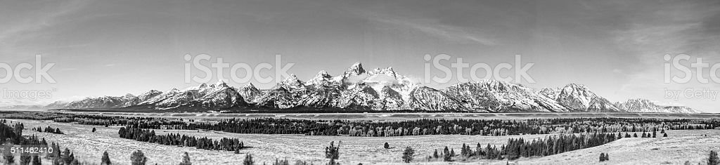 Grand Teton National Park Mountain Range - Jackson, Wyoming stock photo