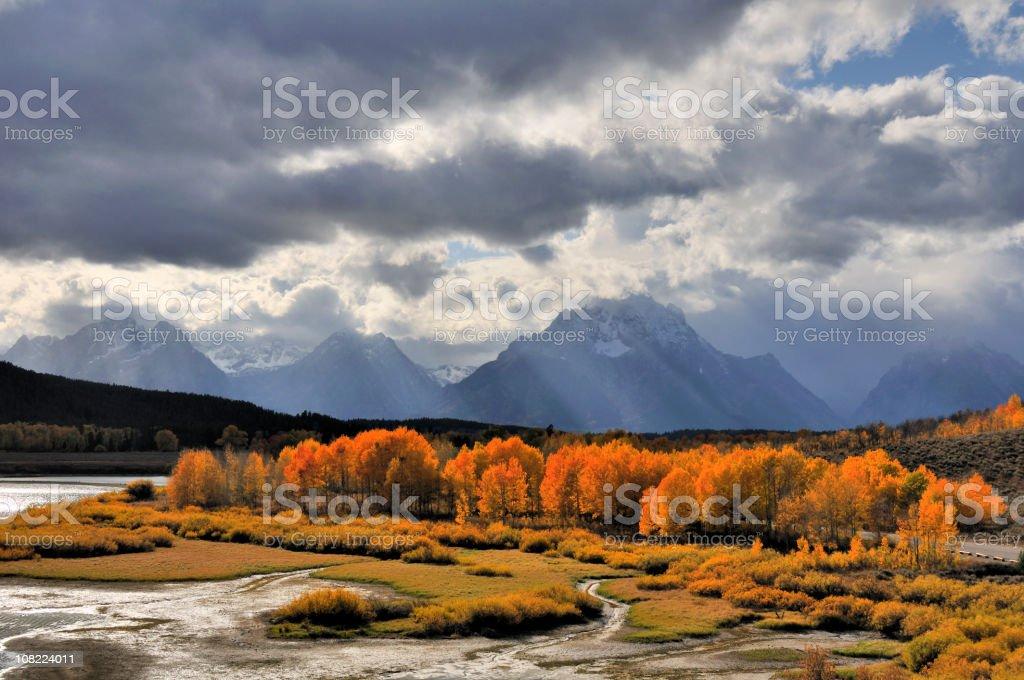 Grand Teton National Park - Oxbow Bend stock photo