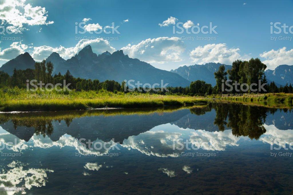 Grand Teton National Park Snake River and Mountain Range royalty-free stock photo