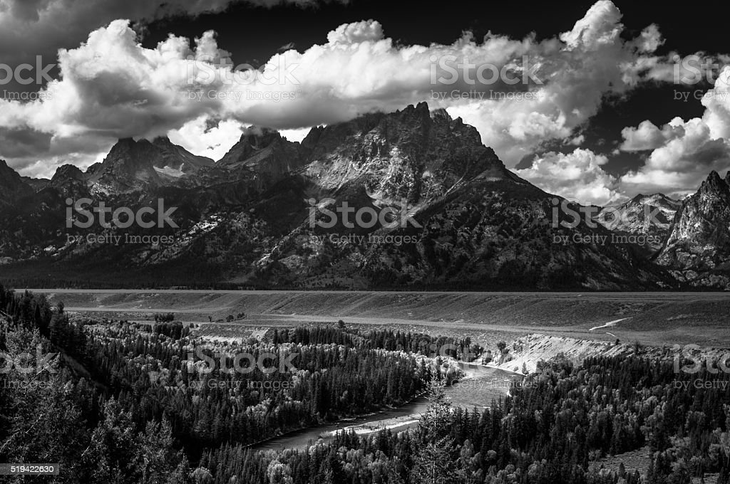 Grand Teton National Park Snake River Overlook stock photo