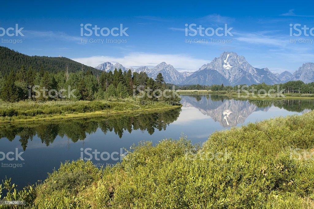 Parc National du Grand Teton Rivière Snake photo libre de droits