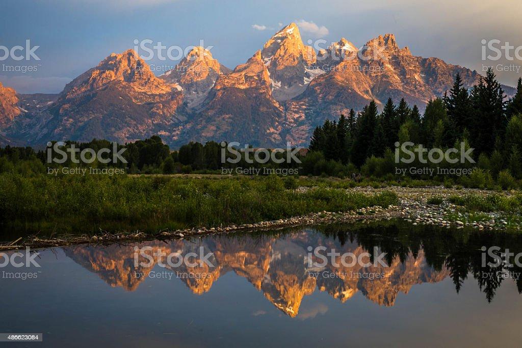 Grand Teton National Park Sunrise stock photo