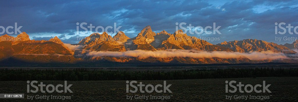 Grand Teton National Park sunrise stock photo