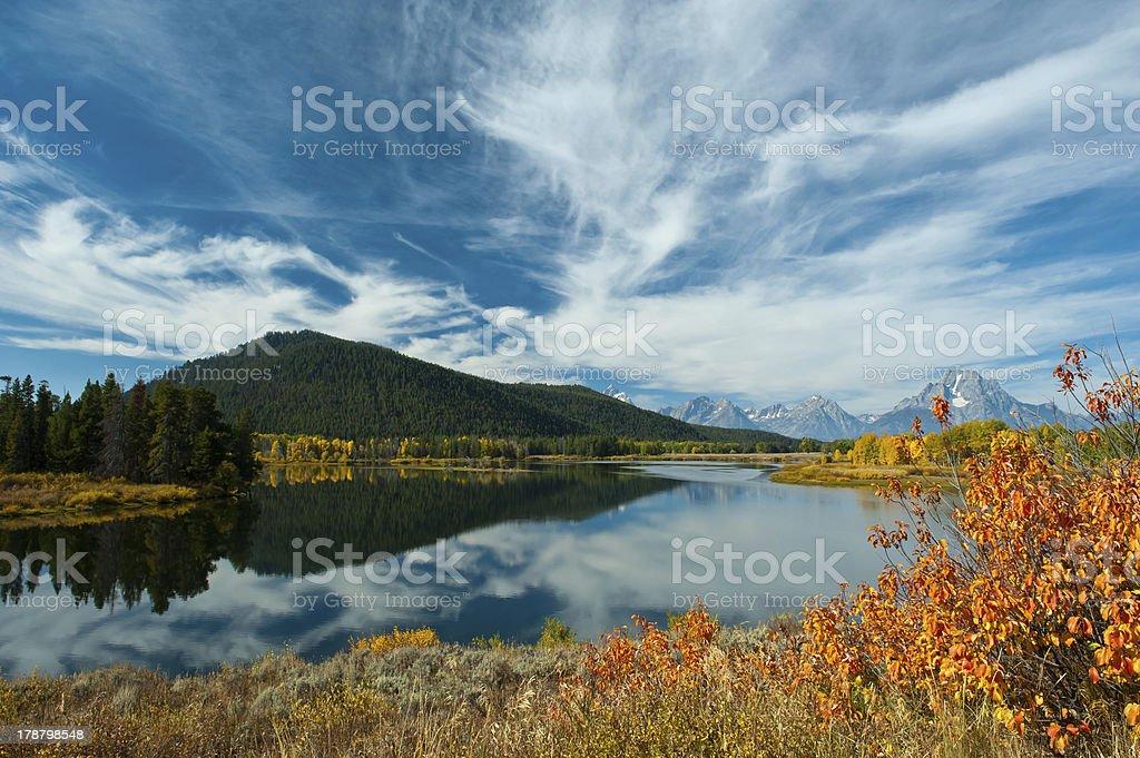 Grand Teton Oxbow Bend royalty-free stock photo