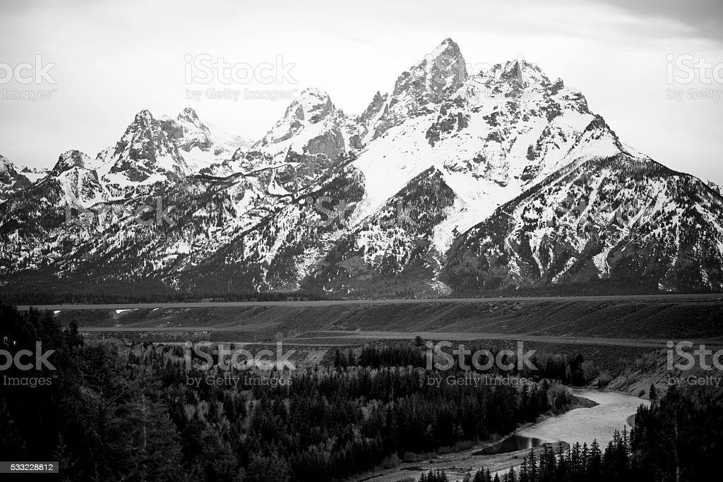 Grand Teton stock photo