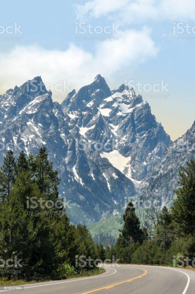 Grand Teton Range, Jackson Hole, Wyoming stock photo