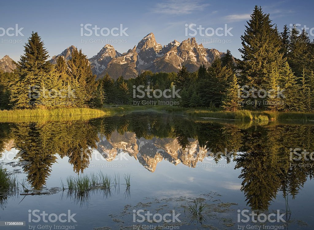 Grand Teton Reflections stock photo