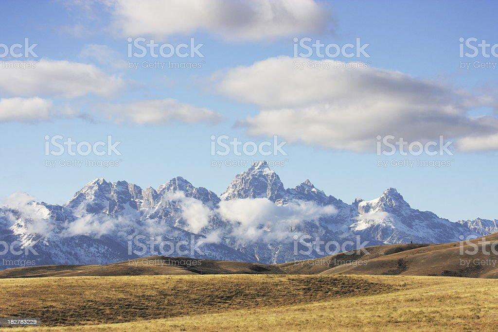 Grand Teton Rocky Mountain Landscape stock photo