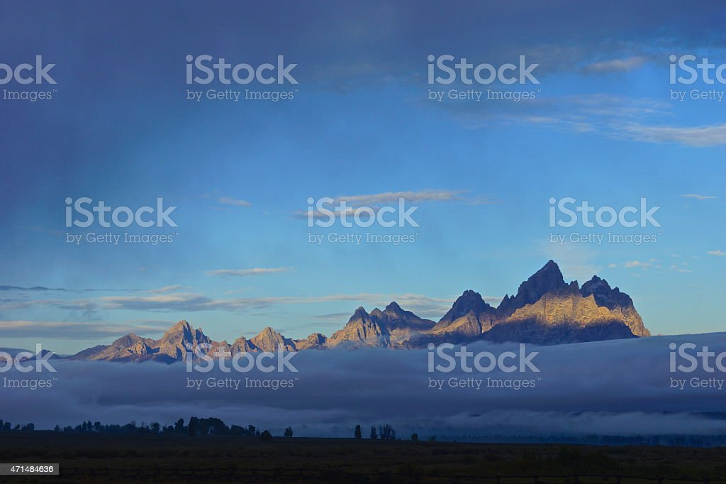 Grand Teton Shadow Zones stock photo