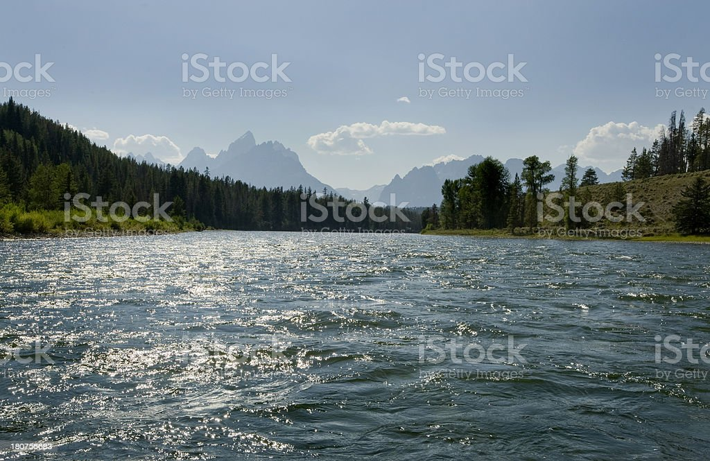 Grand Tetons and Snake River, Wyoming. royalty-free stock photo