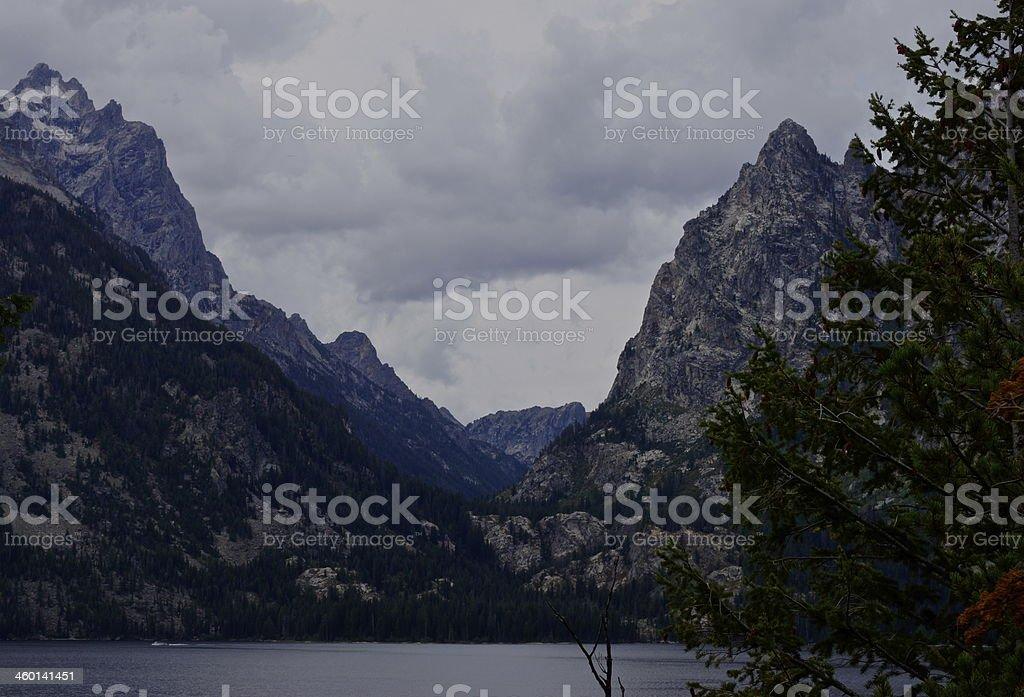 Grand Teton's Cascade Canyon stock photo