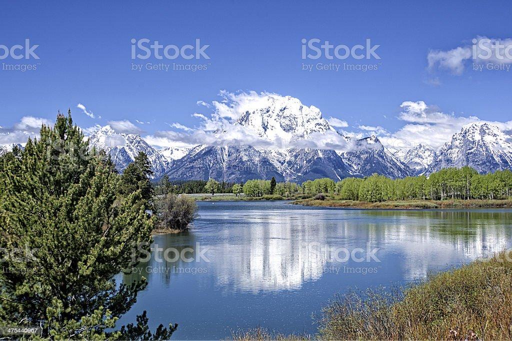 Grand Tetons in Summer Glory stock photo