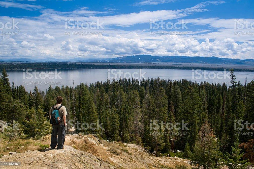 Grand Tetons Inspiration Point Jenny Lake royalty-free stock photo