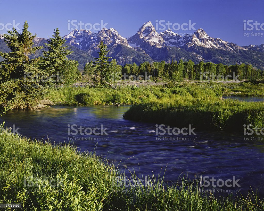 Grand Tetons National Park stock photo