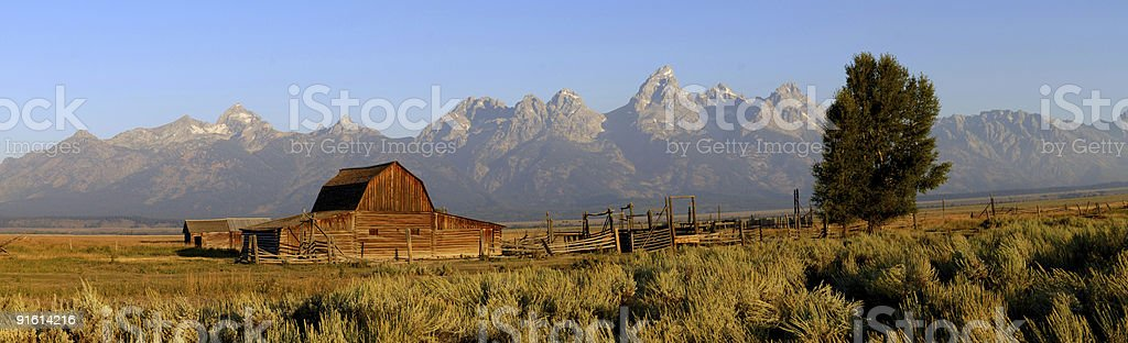 Grand Tetons Panorama stock photo