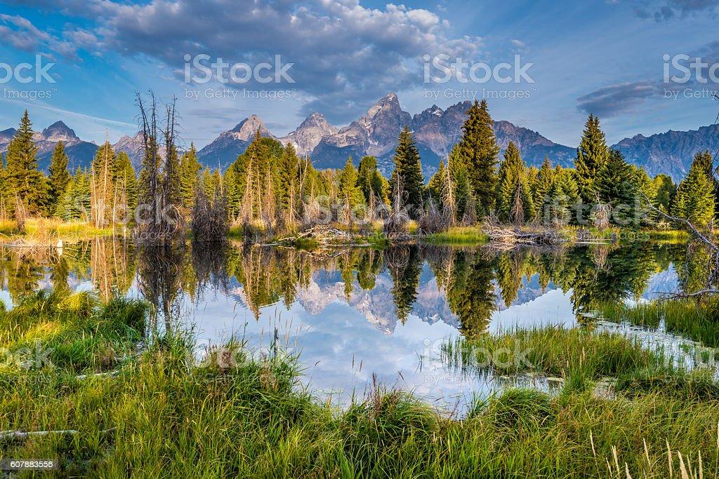 Grand Tetons view stock photo