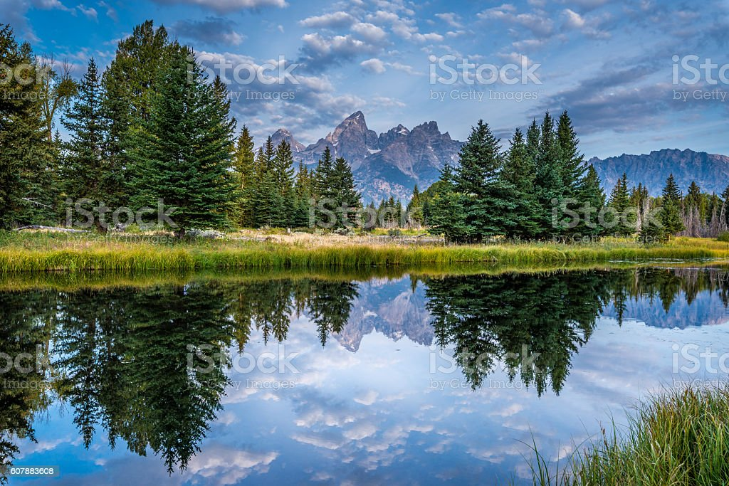Grand Tetons view stock photo