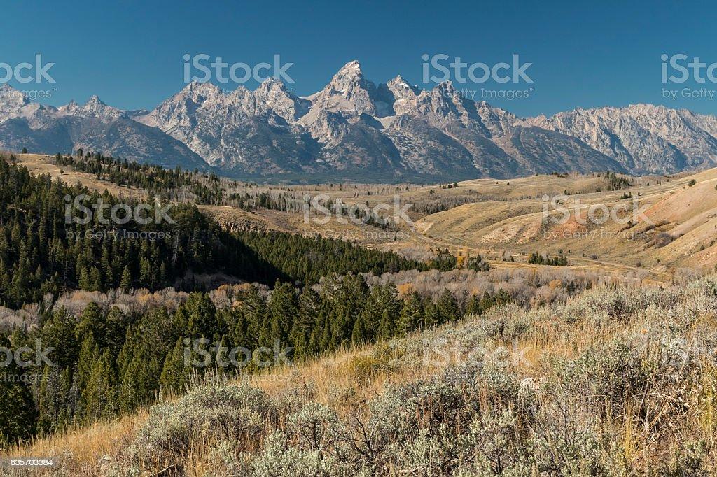 Grand Tetons, Wyoming stock photo