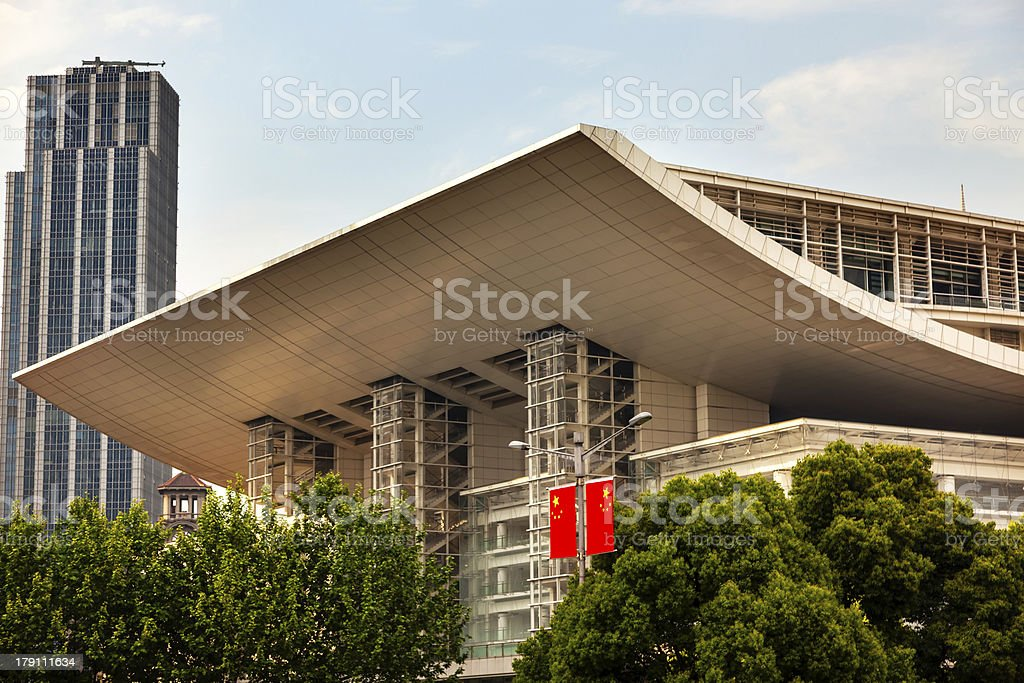 Grand Theater Opera House People's Square Shanghai China royalty-free stock photo