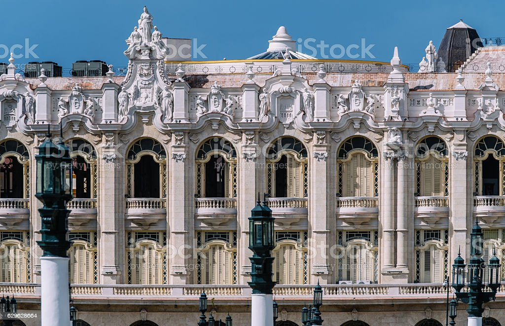Grand Theatre of Havana stock photo