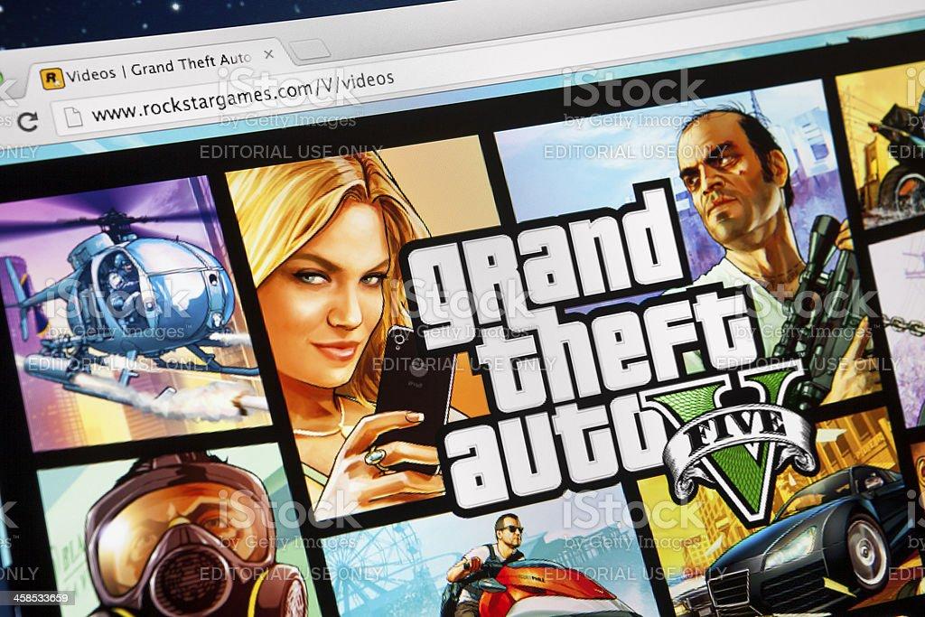 Grand Theft Auto 5 on iMac screen royalty-free stock photo