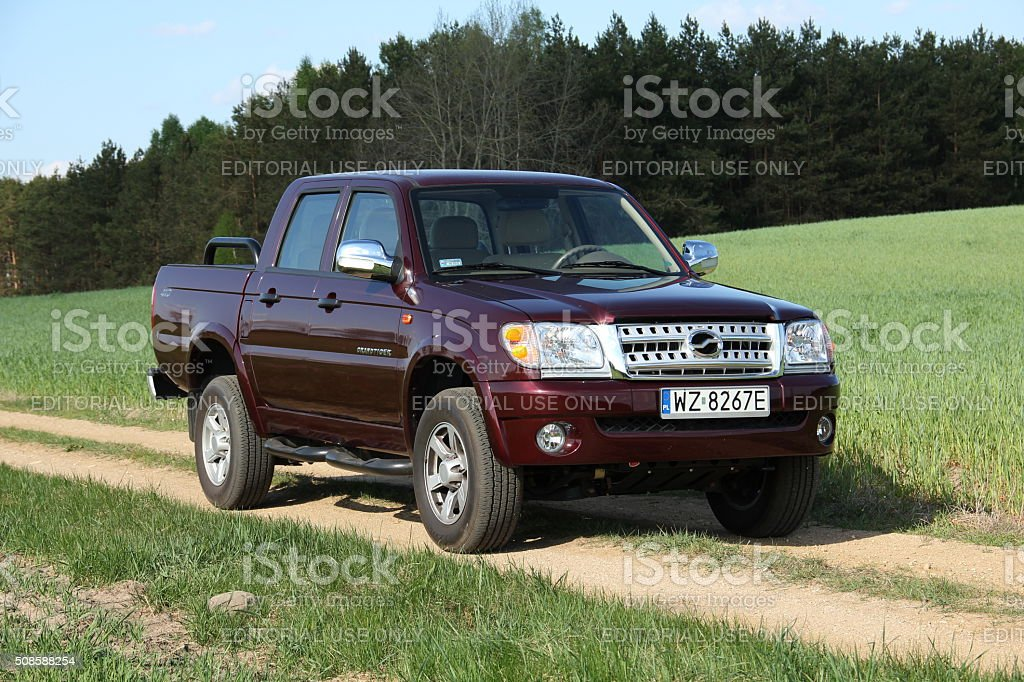 ZX Grand Tiger - Chinese pick-up on the unmade road stock photo