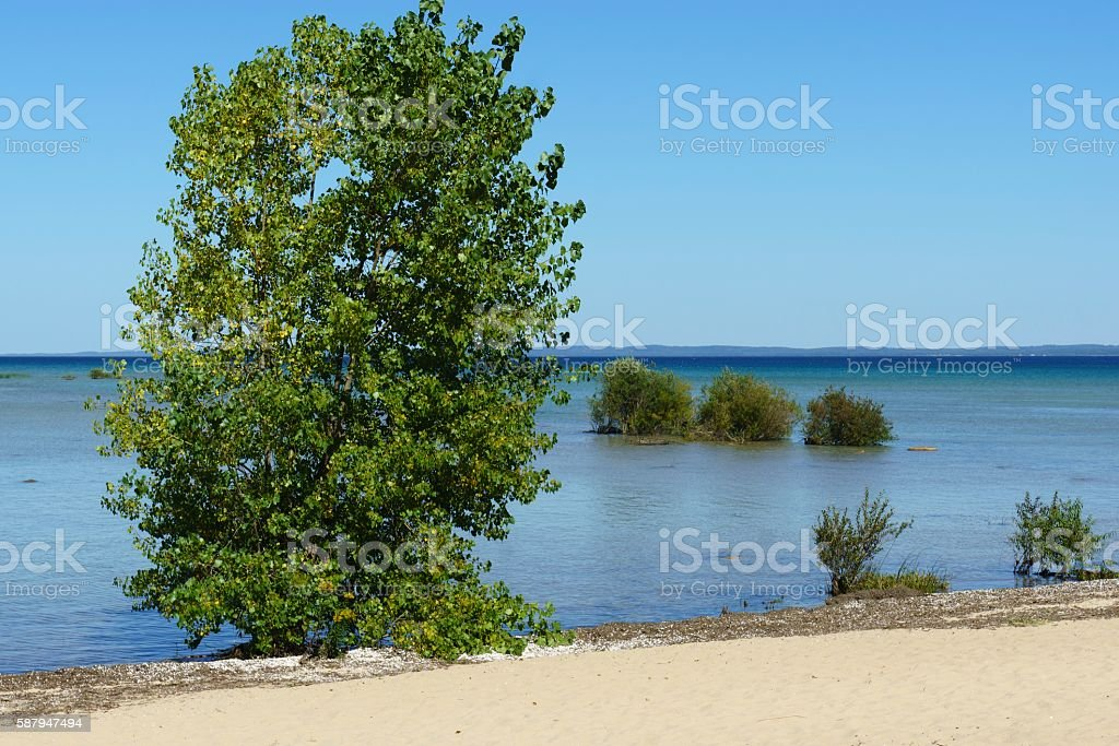 Grand Traverse Bay Old Mission Peninsula stock photo