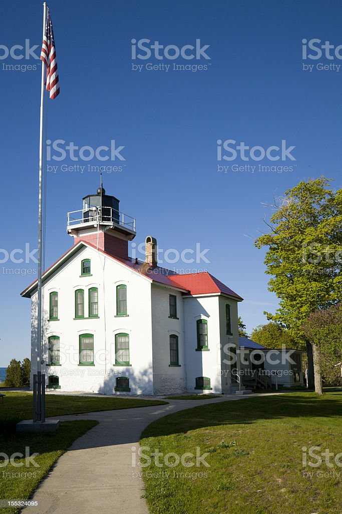 Grand Traverse Lighthouse stock photo