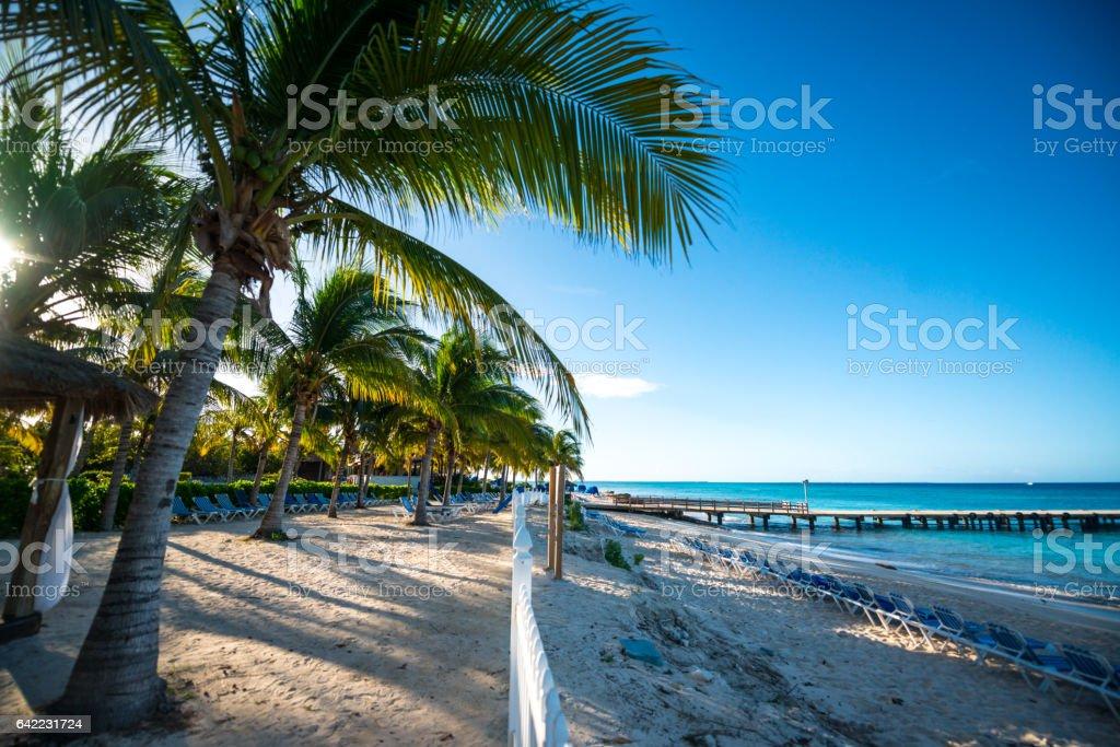 Grand Turk Island beaches, Turks and Caicos Islands stock photo