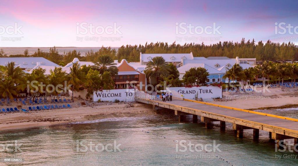 Grand Turk island, the Caribbeans stock photo