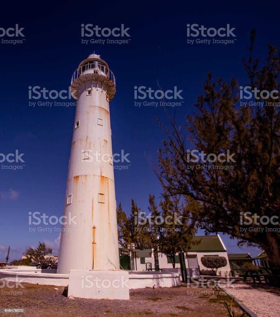 grand Turk lighthouse stock photo