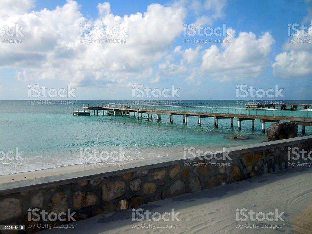 Grand Turk Pier stock photo