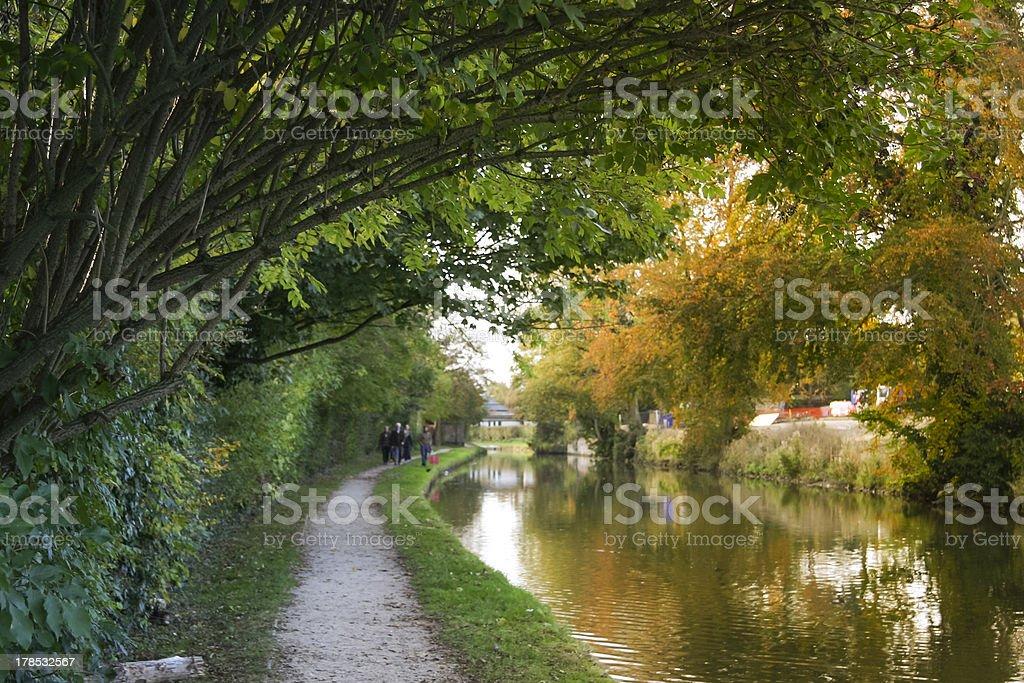 grand union canal autumn berkhamsted uk stock photo