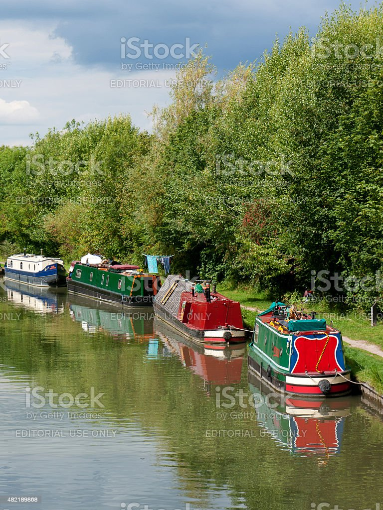Grand Union Canal Boats stock photo
