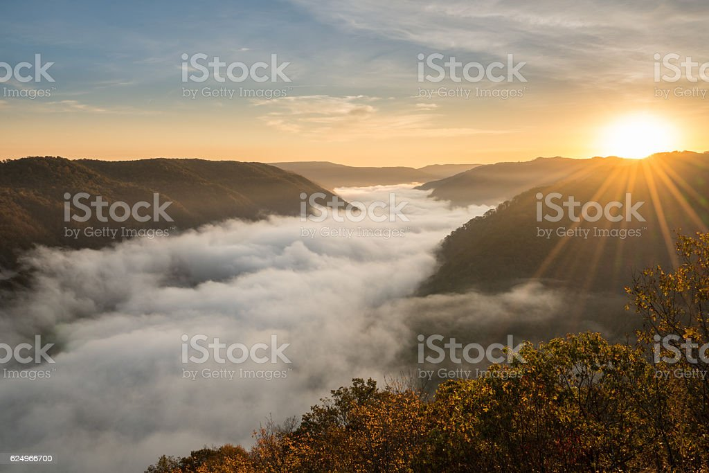 Grand View or Grandview in New River Gorge stock photo