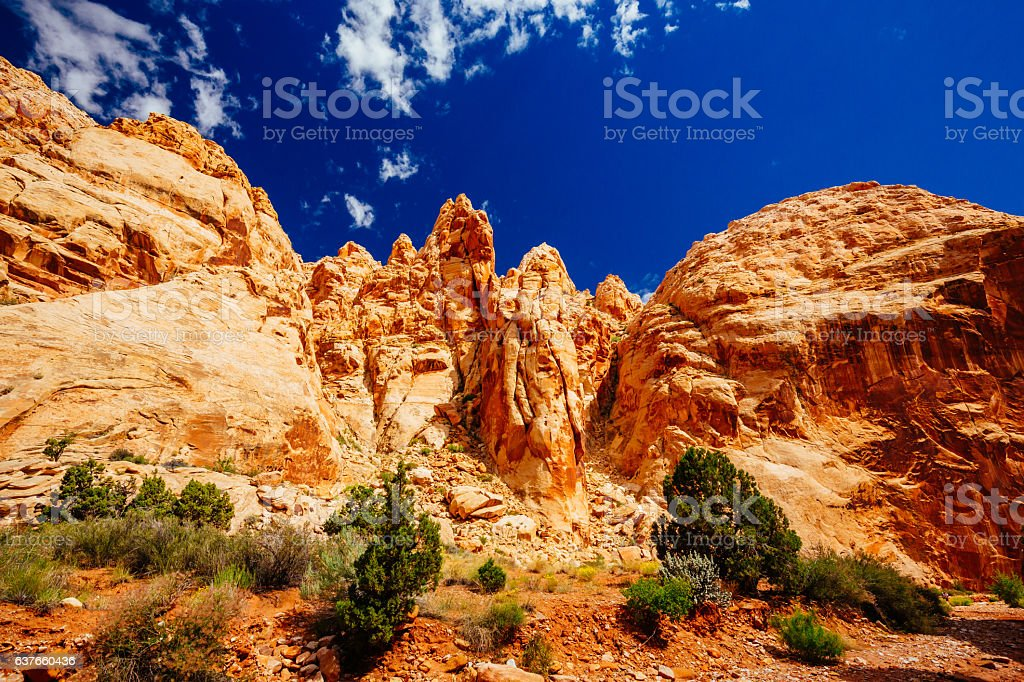 Grand Wash trail, Capital Reef National Park, Utah, USA stock photo