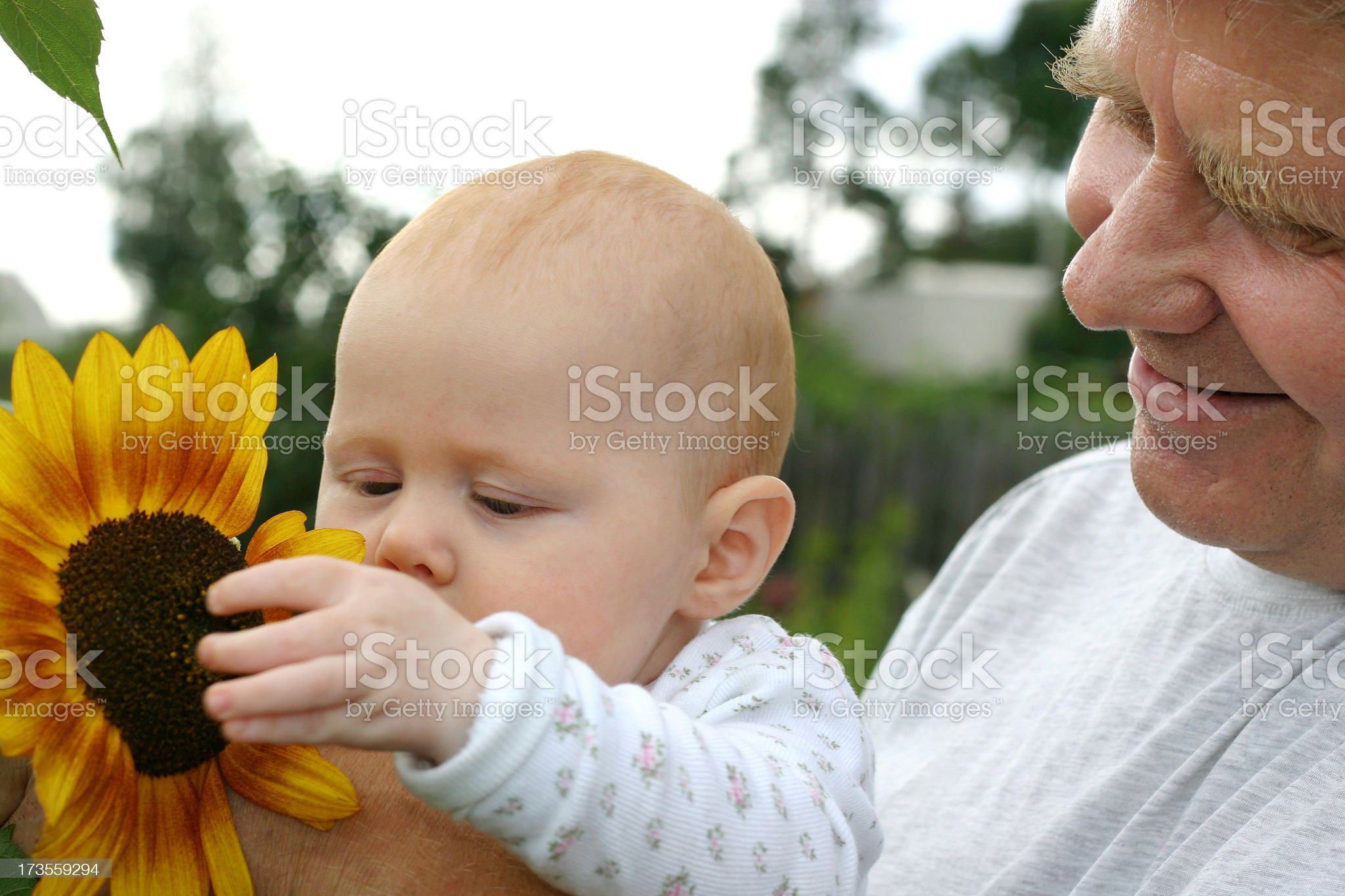 Grandad playing with a child royalty-free stock photo