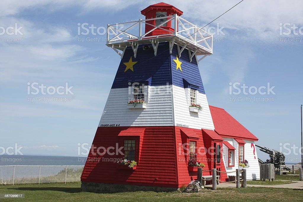 Grand-Anse Lighthouse - New Brunswick, Canada stock photo